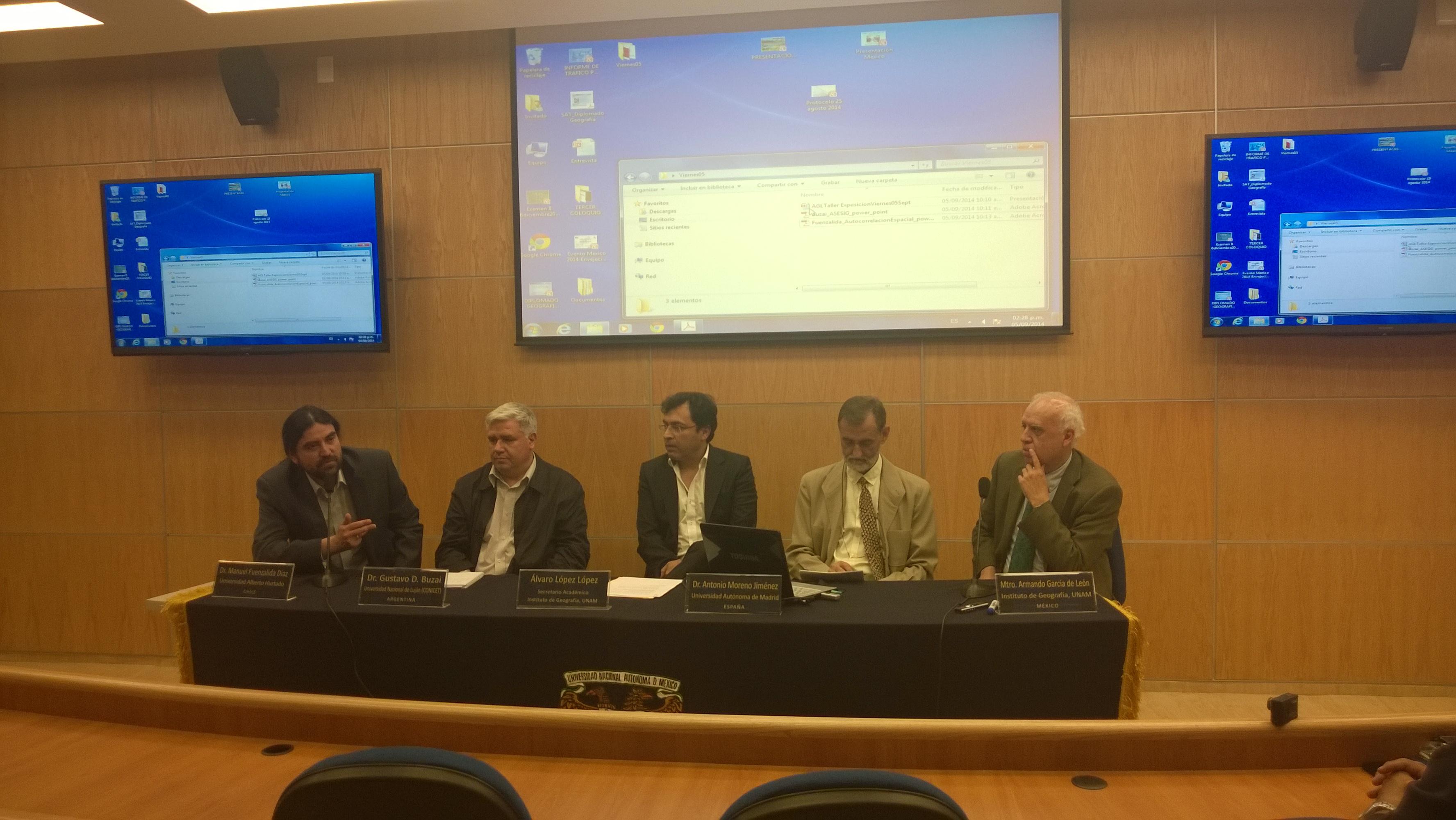 Dr. Manuel Fuenzalida participa en Taller de Geotecnología en la Universidad Nacional Autónoma de México